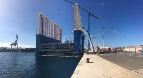 MC Spain suministra 300 t aditivos 7 cajones flotantes ampliación Mármoles