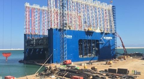 MC Spain distribuye 180 t aditivos 7 cajones hormigón Puerto Barcelona