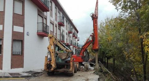 CHG comienza trabajos estabilización y adecuación talud río Bermejo Calicasas