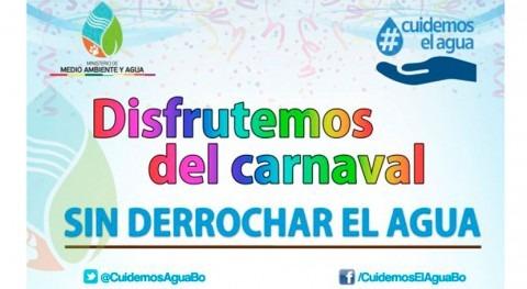 Bolivia realiza campaña educativa derroche agua durante carnvales