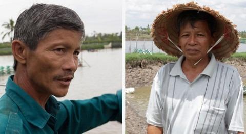 Historia dos camaroneros: ¿Cómo afecta cambio climático al delta río Mekong?
