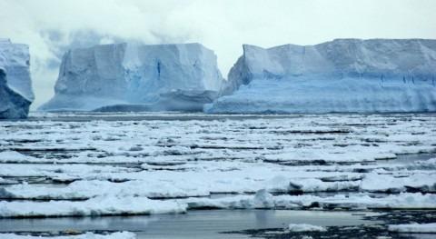 Fragmentos de la plataforma Wikins de la Antártida, que se ha resquebrajado por el deshielo producido por el calentamiento global (GARETH PEARSON)