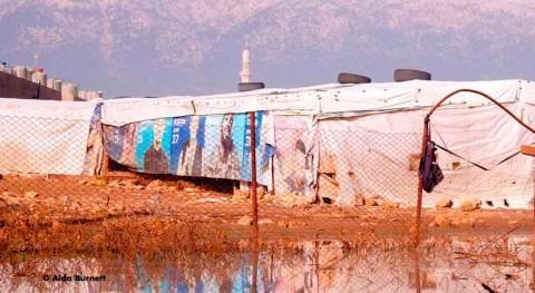 tormentas e inundaciones campos refugiados Líbano colapsan red saneamiento