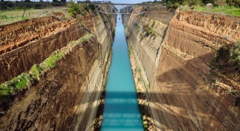 Canal Corinto, obra civil más larga historia