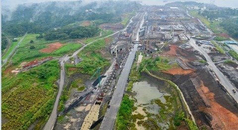 Imagen aeéra del Canal de Panamá