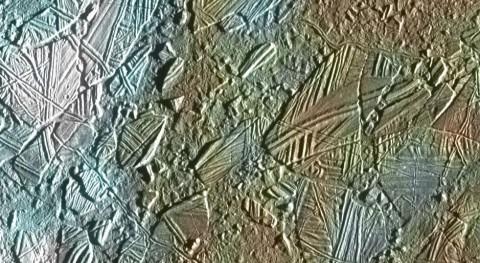 Imagen en falso color de Europa (ESA).