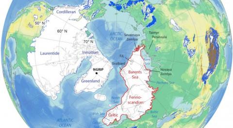 ¿Cómo era capa hielo euroasiática orígenes?