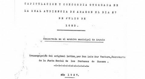 CHE remite al archivo copia transcripción desaparecida Capitulación y Concordia