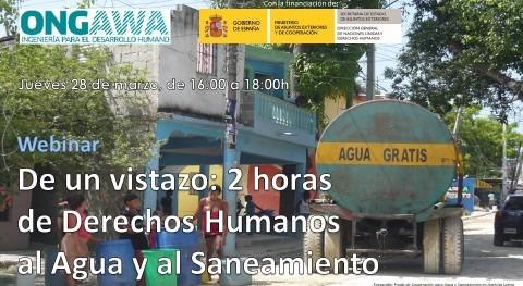 vistazo: 2 horas Derechos Humanos al Agua y al Saneamiento (webinar)