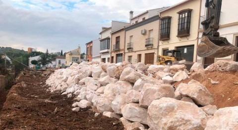 Finalizan obras Casariche fijar tramo vía desprendida lluvias