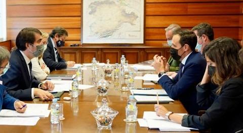 Castilla y León y Diputación Valladolid evalúan avances depuración aguas