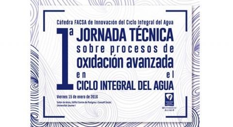 15 enero: Jornada Procesos Oxidación Avanzada aplicados al ciclo integral agua