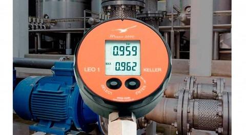Manómetro digital LEO1, memorización picos bombas presión
