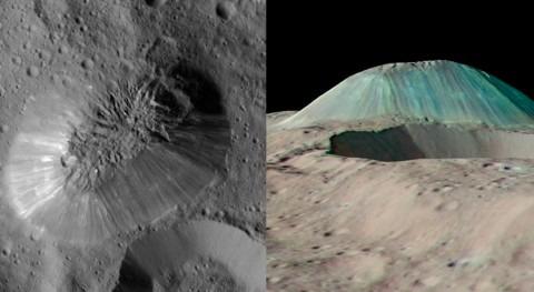 Detectan volcán hielo y agua planeta enano Ceres