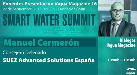 Manuel Cermerón protagonizará Diálogo iAgua Magazine #SmartWaterSummit