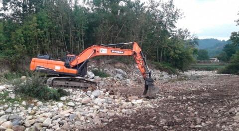 CHC inicia trabajos mejora desagüe río Nalón paso Lorío, Laviana