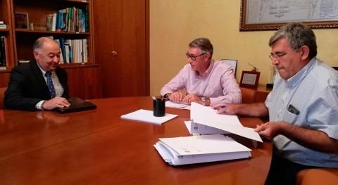 """Mario Urrea analiza perímetros riego Comunidad Regantes """"Arco Sur Mar Menor"""""""