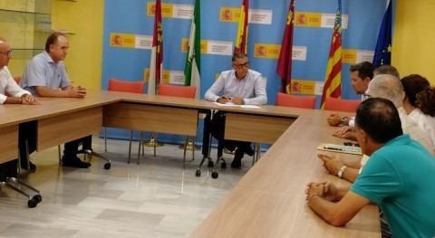 Mario Urrea se reúne regantes Lorca, Águilas, Puerto Lumbreras y Pulpí