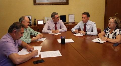 Mario Urrea y alcalde Lorca analizan asuntos competencia organismo cuenca