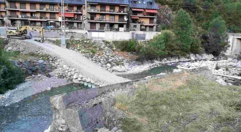CHE ejecuta trabajos acondicionamiento río Cinca, Bielsa, Huesca