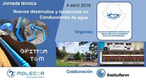 """Molecor colabora Jornada técnica """"Nuevos desarrollos y tendencias Conducciones agua"""""""