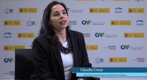 "Claudia Crosa: "" Paraguay hemos heredado sector 4.000 prestadores agua"""