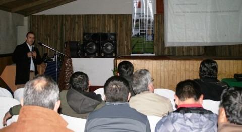 Paulo de la Fuente durante su intervención en Maule
