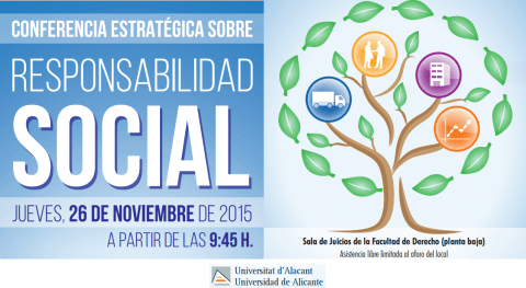 Hidraqua expone compromiso 'Conferencia Estratégica Responsabilida Social' UA