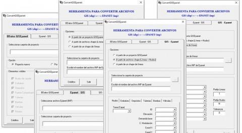 ConvertGISEpanet y RunEpanetGIS. Tools trabajar modelos Epanet y GIS