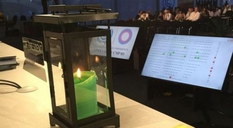 """""""La luz de esperanza que podría iluminar las negociaciones"""" Foto: Christiana Figueres."""