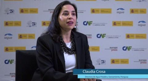 """Claudia Crosa: """"Paraguay promueve mesas intersectoriales agua y saneamiento"""""""