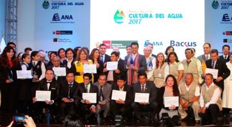 Autoridad Nacional Agua distingue ganadores Premio Nacional Cultura Agua 2017