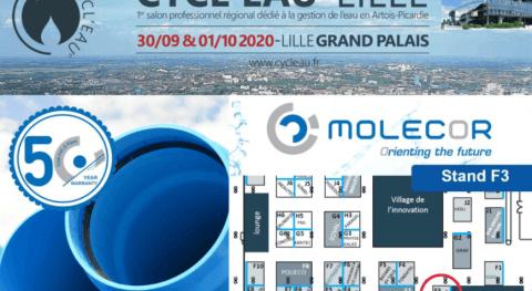 """Molecor estará presente Salón """"Cycl'eau Lille 2020"""""""
