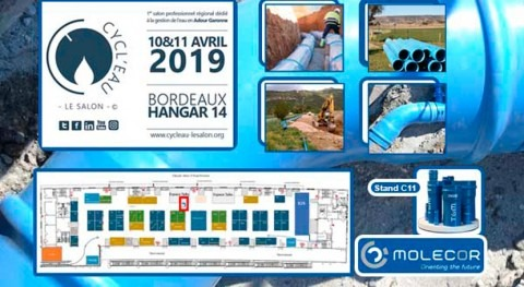 "Molecor estará presente Salón ""Cycl'eau Bordeaux 2019"" 10 y 11 abril"