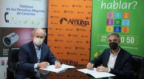 Teléfono Esperanza llega al sur Gran Canaria mano Fundación Amurga