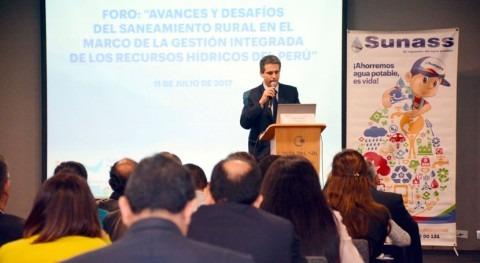 debate desafíos sector saneamiento zonas rurales Perú
