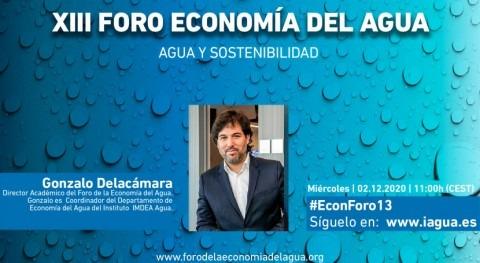 """Gonzalo Delacámara: """"Debemos valorar cómo financiar largo plazo actuaciones materia agua"""""""