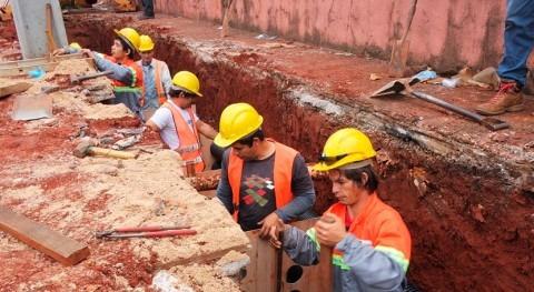 Comienza construcción desagüe pluvial frente , Paraguay