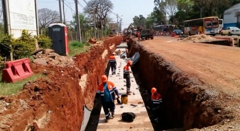 desagües pluviales disminuirán peligrosos raudales Mariscal Estigarribia, Paraguay