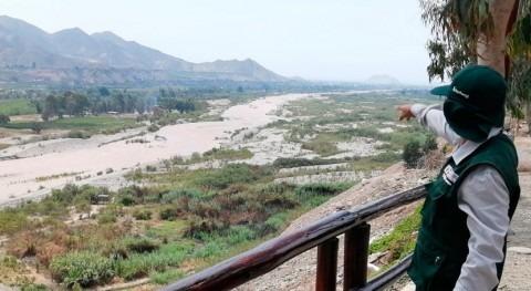 Autoridad Nacional Agua Perú supervisa desborde río Mala
