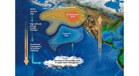 pérdida hielo Ártico podría secar California