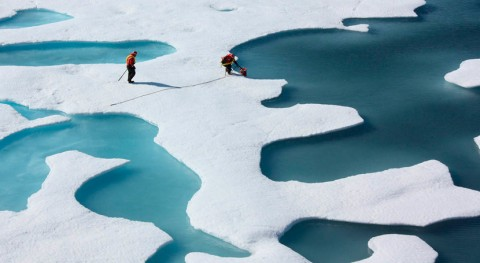 anómala y extensa masa aire caliente produjo deshielo invernal Ártico