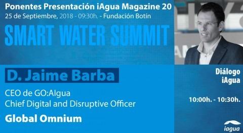 Jaime Barba Global Omnium protagonizará Diálogo iAgua Magazine #SmartWaterSummit