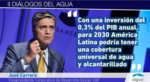 "José Carrera: "" América Latina, apenas 20% aguas residuales son tratadas"""