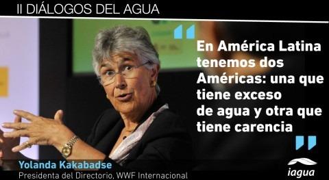 """Yolanda Kakabadse: """" América Latina hay 2 Américas: exceso agua y otra que tiene sed"""""""