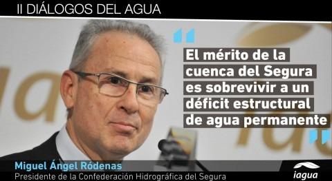 """Miguel Ángel Ródenas: """" cuenca Segura sobrevive déficit estructural agua permanente"""""""