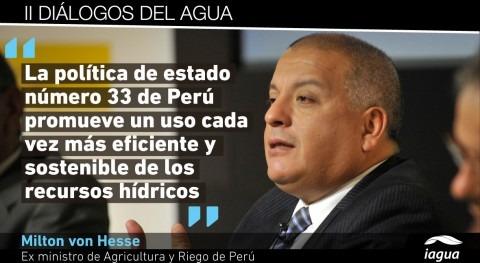 """Milton von Hesse: """" tarifa agua Perú tiene componente conservar cuenca"""""""
