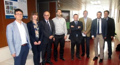 delegación miembros Parlamento Francia visita IIAMA-UPV