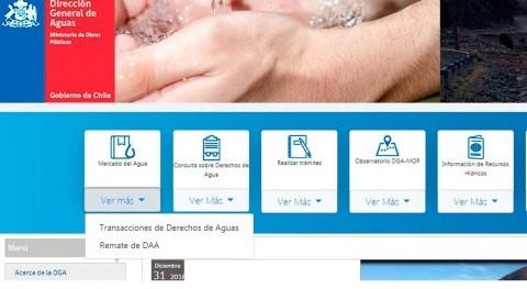 Información y transparencia materia aguas: avances Chile