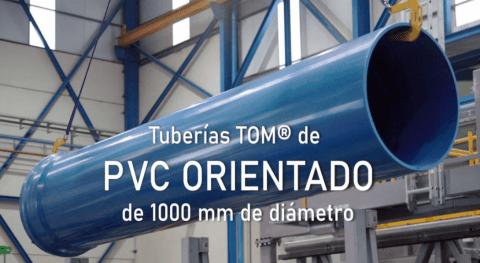 Molecor amplía gama Tuberías PVC Orientado lanzamiento tubería TOM® 1000